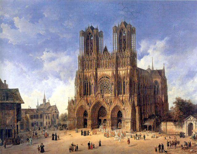 cathedrale_de_reims_-Domenico_Quaglio_1787_-_1837