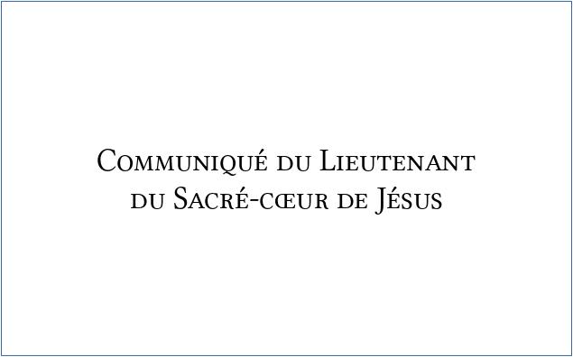 communique_du_lieutenant_du_sacre_coeur_de_jesus